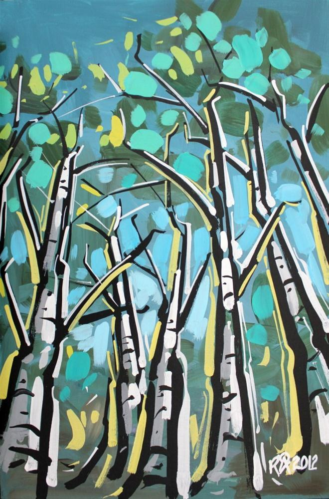 """""""Birch tree abstraction 1"""" original fine art by Roger Akesson"""