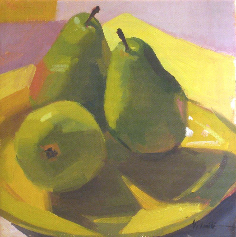 """A Trio of Pears (no.1)"" original fine art by Sarah Sedwick"
