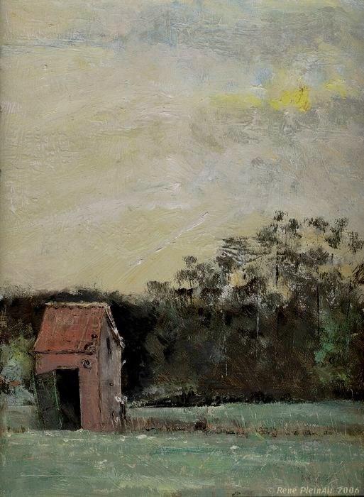 """""""Farewel little shed. Westervoort, The Netherlands"""" original fine art by René PleinAir"""