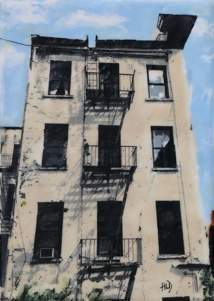 """High Line Fire Escape"" original fine art by Heather Douglas"
