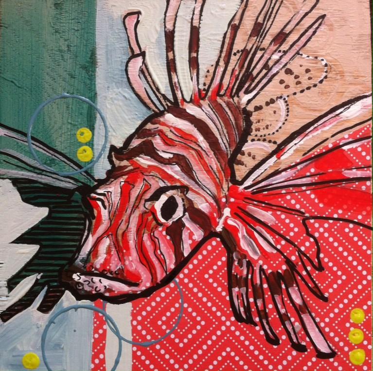 """Lion Fish"" original fine art by Teddi Parker"