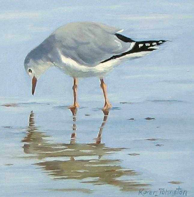"""""""Man in the Mirror"""" original fine art by Karen Johnston"""