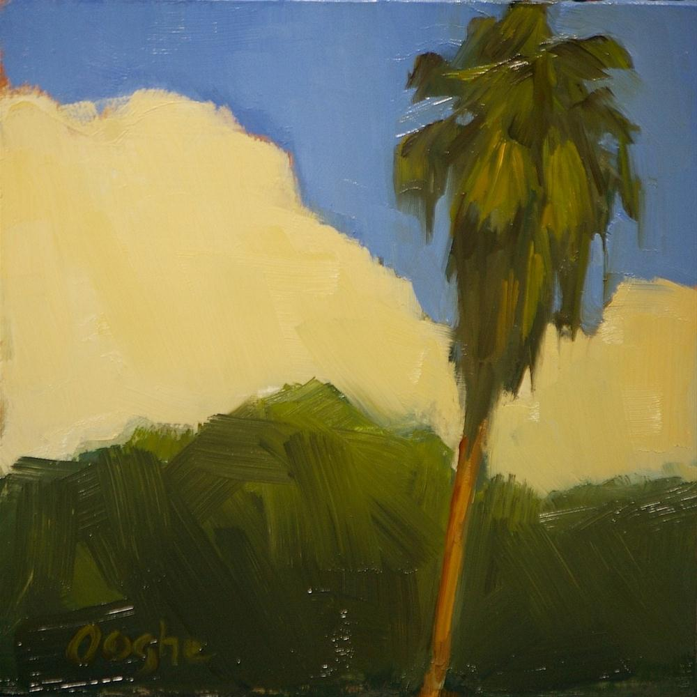 """""""Palm Tree with Cloud"""" original fine art by Angela Ooghe"""