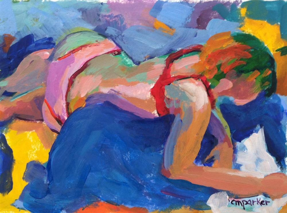 """Girl Reading"" original fine art by Christine Parker"