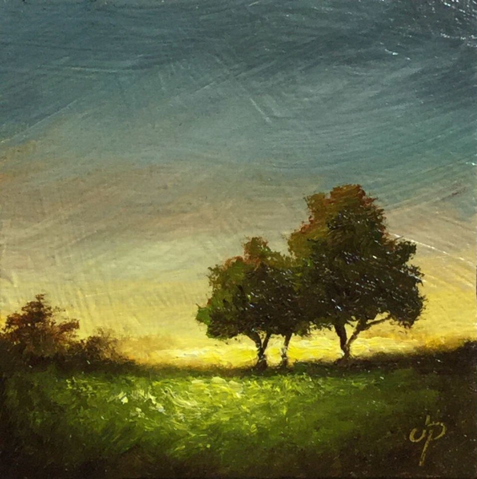 """""""Two little trees"""" original fine art by Jane Palmer"""