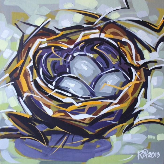 """Bird's Nest Abstraction 19"" original fine art by Roger Akesson"