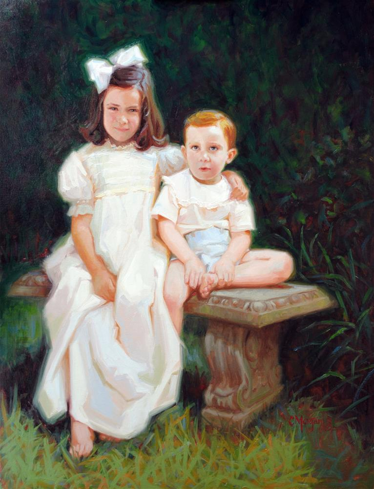 """""""Mary Kate and Sutton"""" original fine art by Cecile W. Morgan"""
