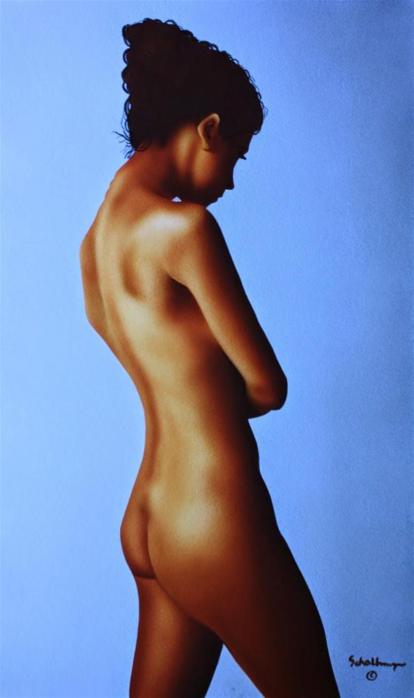 """Standing Nude Study"" original fine art by Fred Schollmeyer"