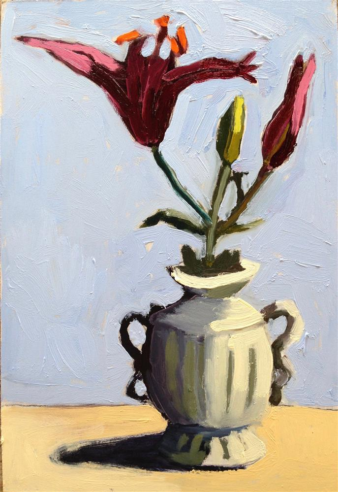 """Big Lily, Little Vase"" original fine art by Pamela Hoffmeister"