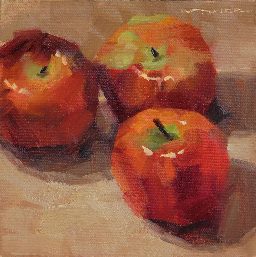 """Apples Again"" original fine art by Karen Werner"