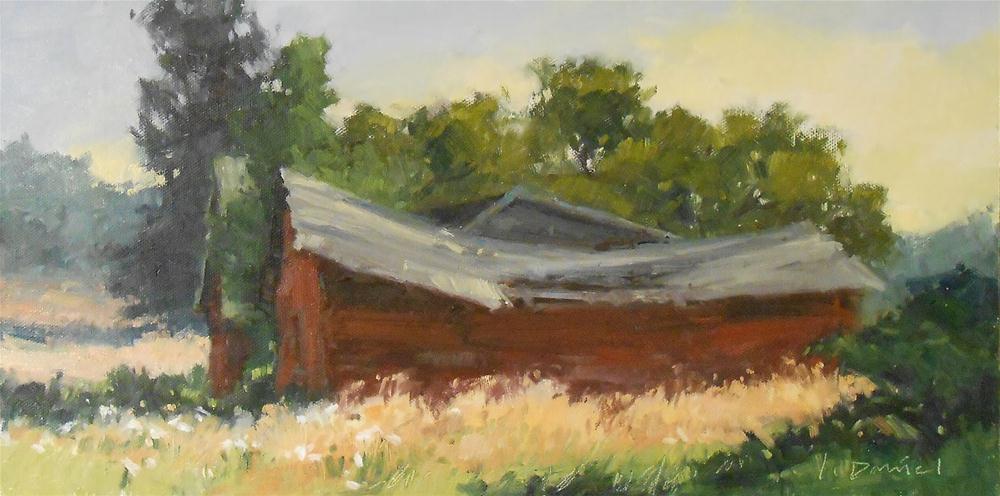 """""""Broken Barns - Door County Plein Air"""" original fine art by Laurel Daniel"""
