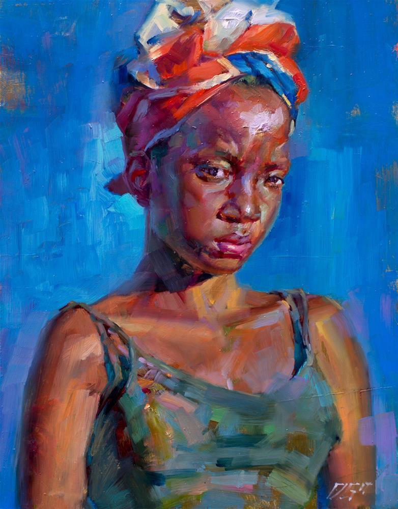 """Portrait №. 4"" original fine art by Dimitriy Gritsenko"