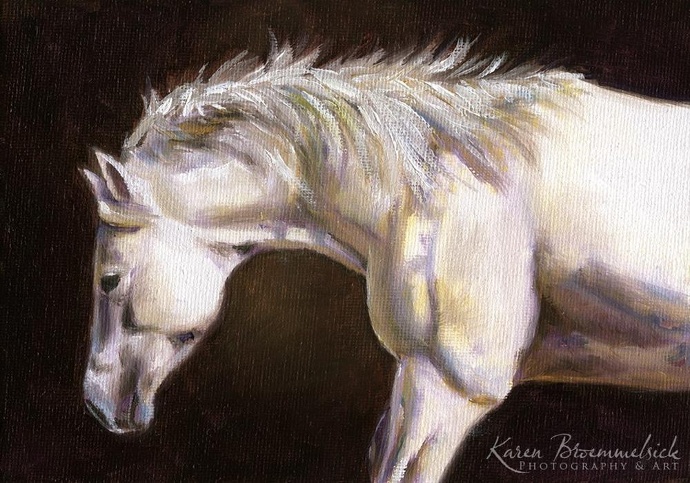 """""""Dally"""" original fine art by Karen Broemmelsick"""