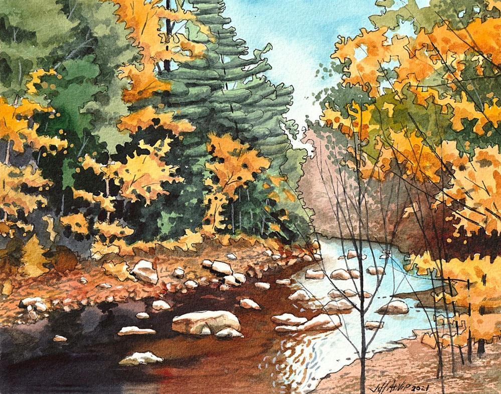 """Winding Creek"" original fine art by Jeff Atnip"