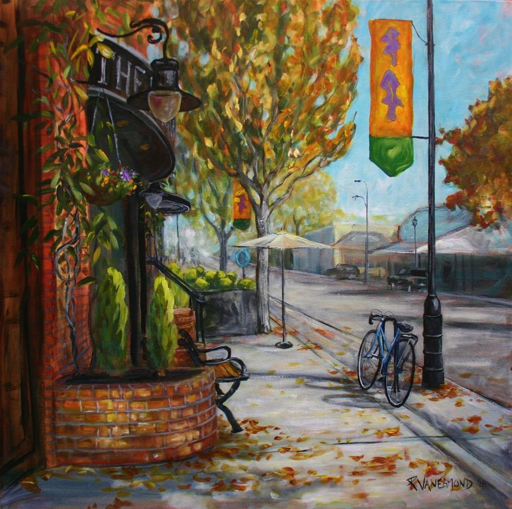 """""""SOLD Afternoon on the Avenue"""" original fine art by Ruth Van Egmond"""