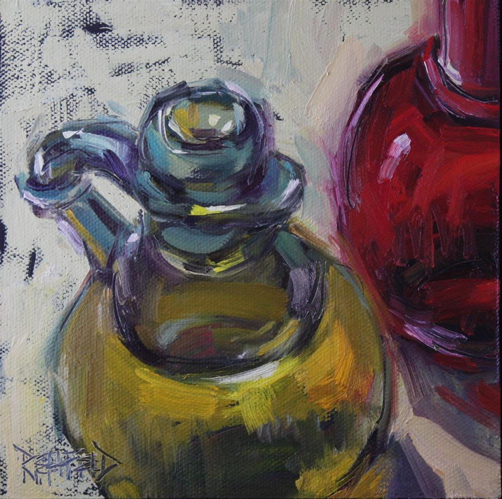 """Olive Oil in the Kitchen"" original fine art by Cathleen Rehfeld"