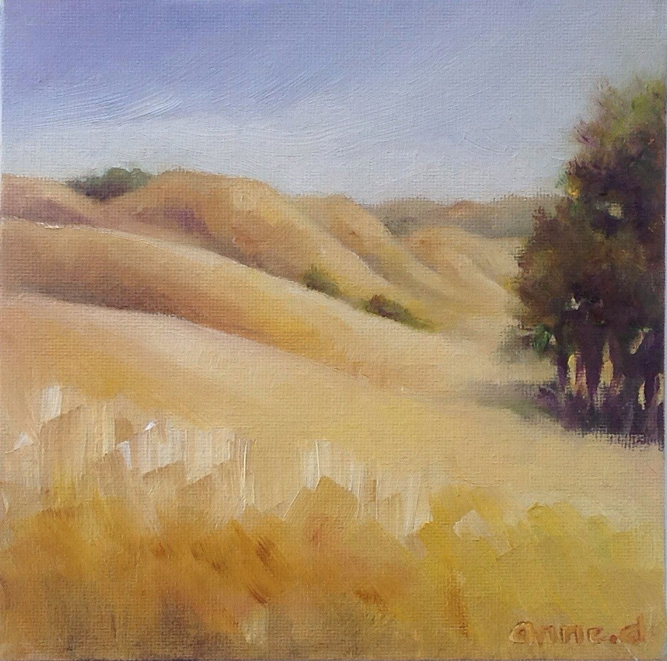 """California Hills in Sibley Park"" original fine art by Anne Ducrot"