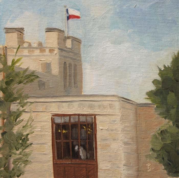 """Elisabet Ney Studio Window"" original fine art by Jane Frederick"