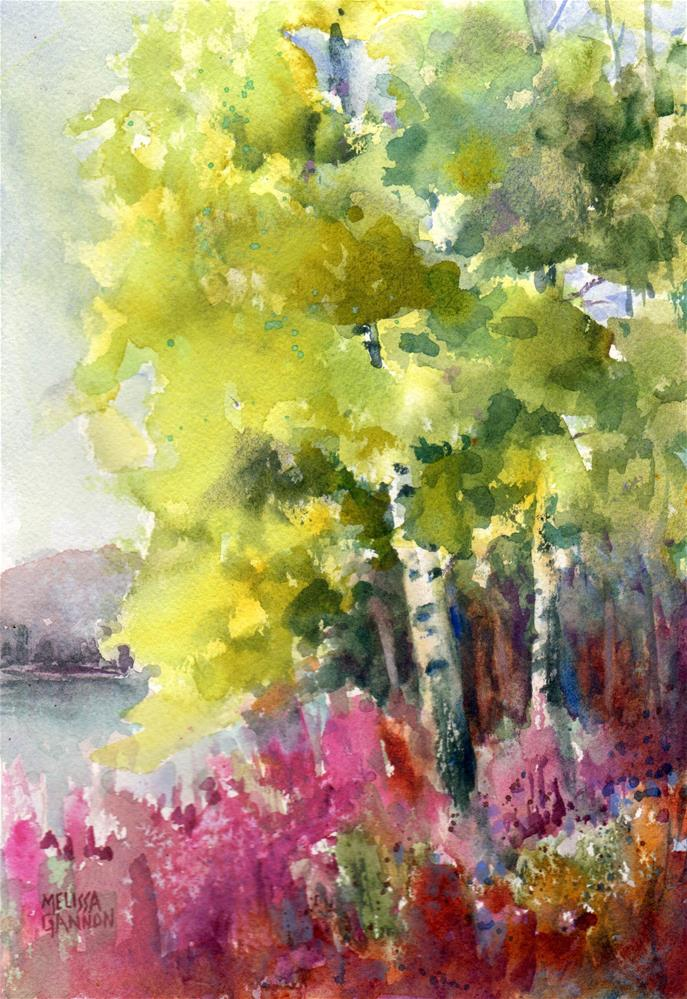 """Trees in Spring"" original fine art by Melissa Gannon"