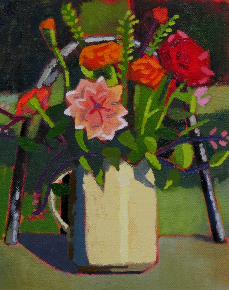 """""""Midsummer Flowers"""" original fine art by Joan Wiberg"""