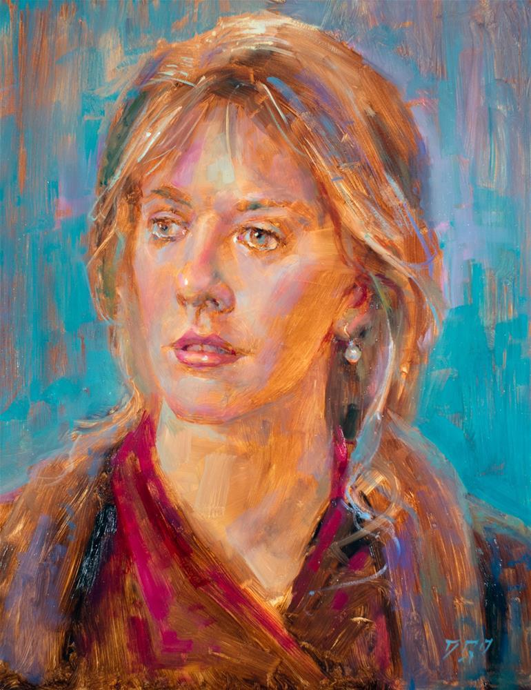"""Girl With A Pearl Earring № 2"" original fine art by Dimitriy Gritsenko"