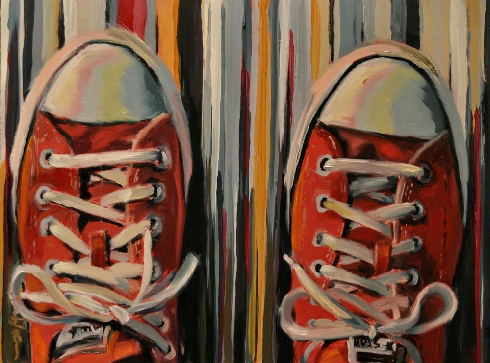 """""""Red Chucks"""" original fine art by Karen Weber"""