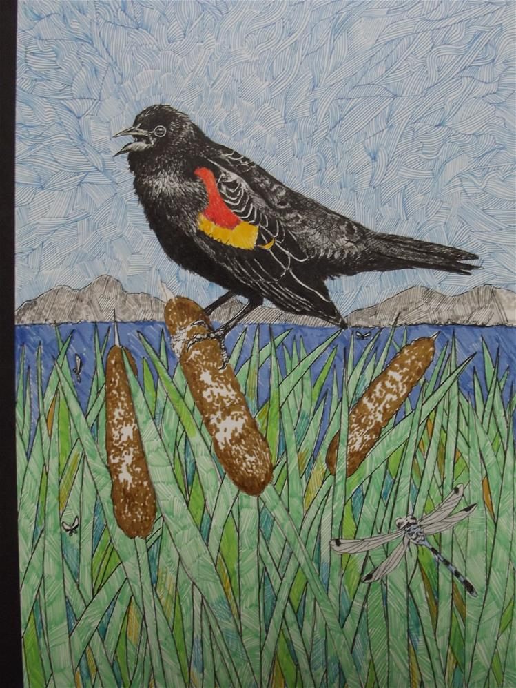 """Fern Ridge Spring"" original fine art by wanda sigafus"