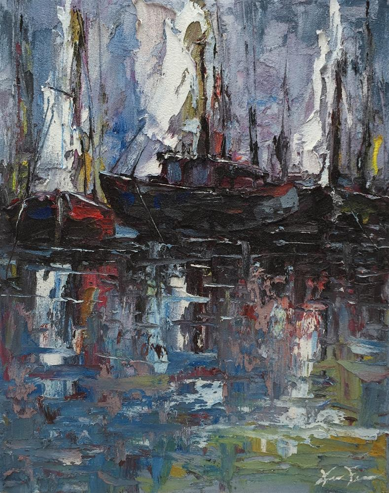 """Shipyard"" original fine art by Ken Fraser"