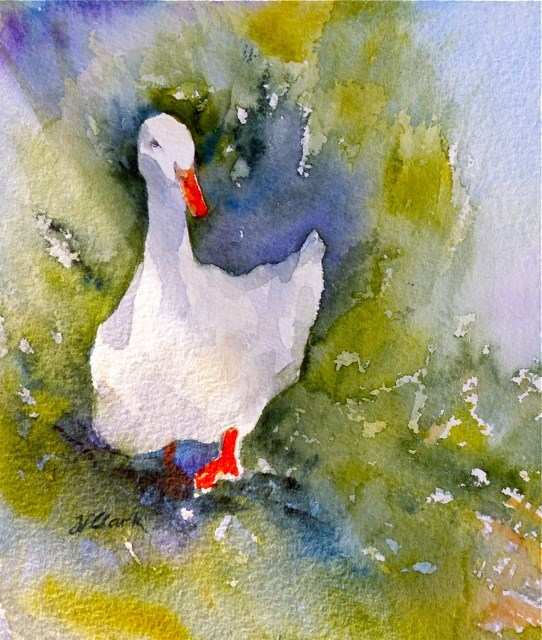 """Just Ducky, study"" original fine art by Judith Freeman Clark"