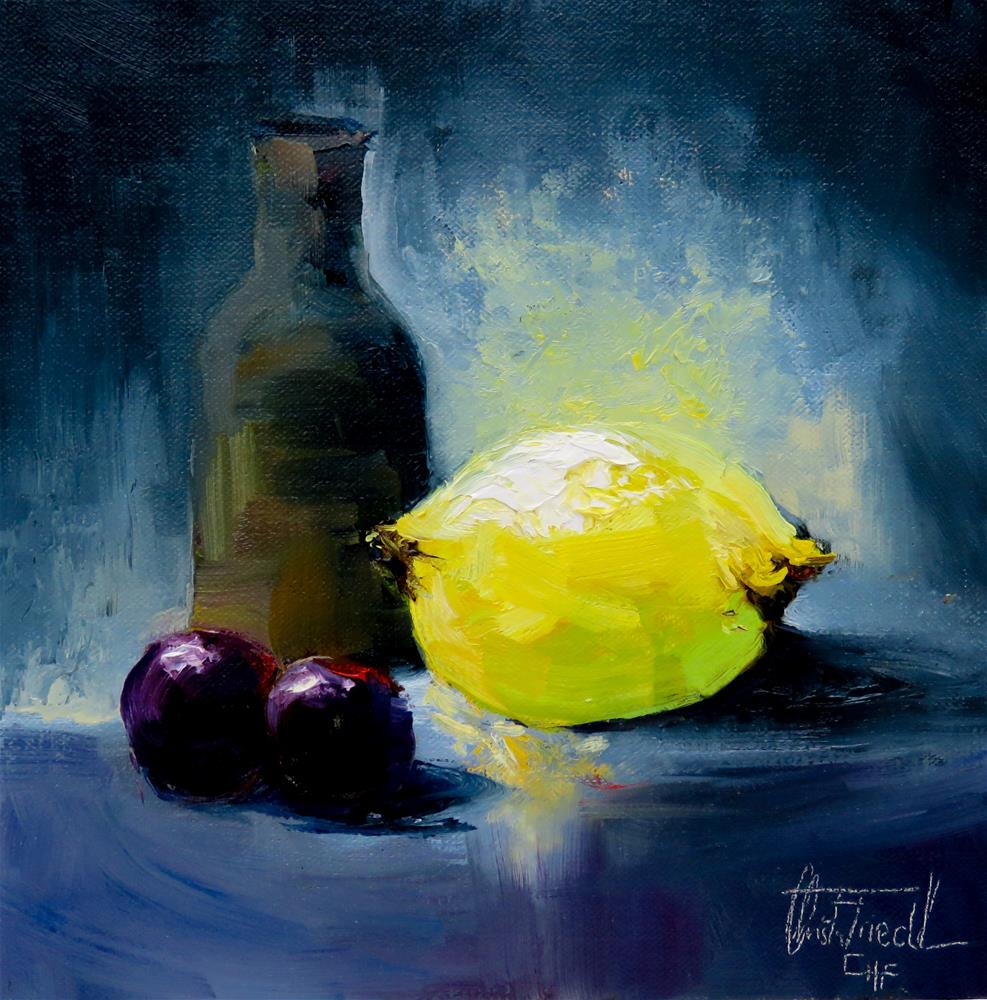 """Still Life with Lemon"" original fine art by Christa Friedl"
