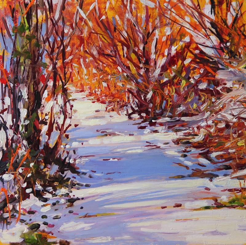 """First Fall"" original fine art by Ken Devine"