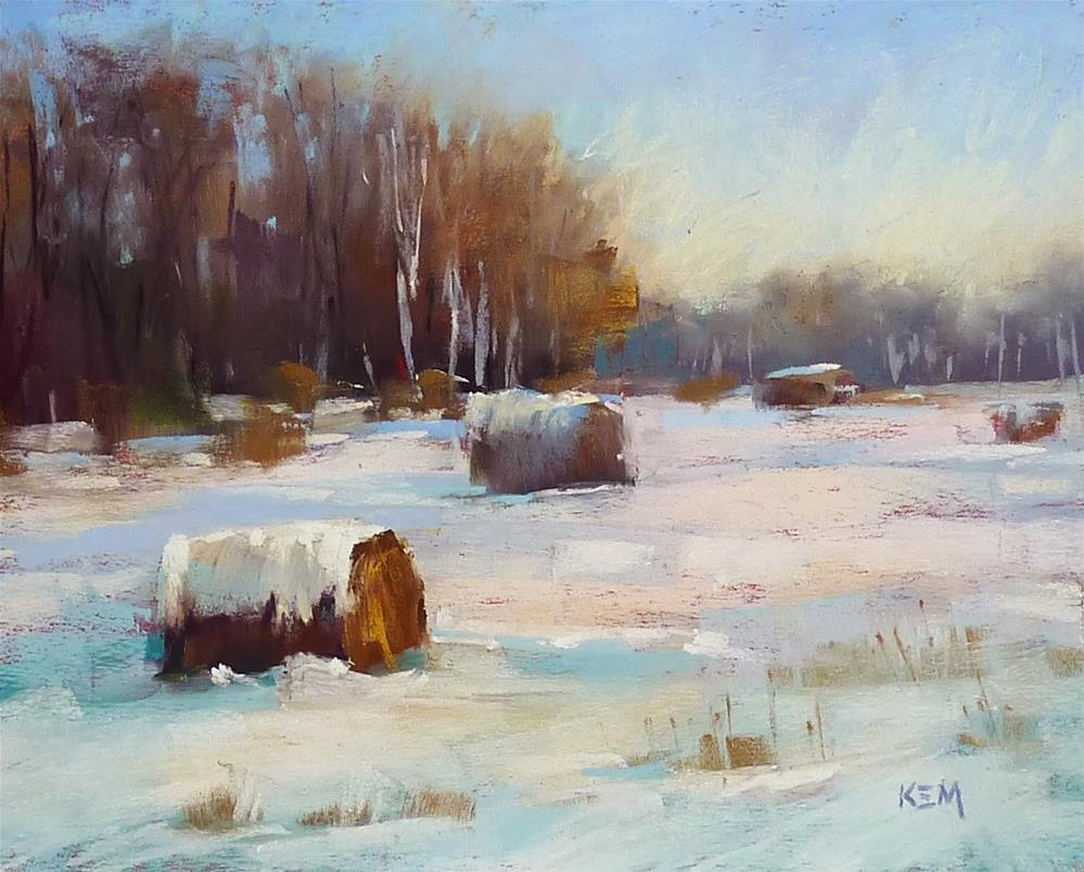 """Painting the Winter Landscape is Easy!"" original fine art by Karen Margulis"