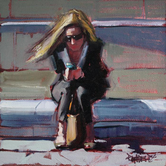 """In the City"" original fine art by Cathleen Rehfeld"
