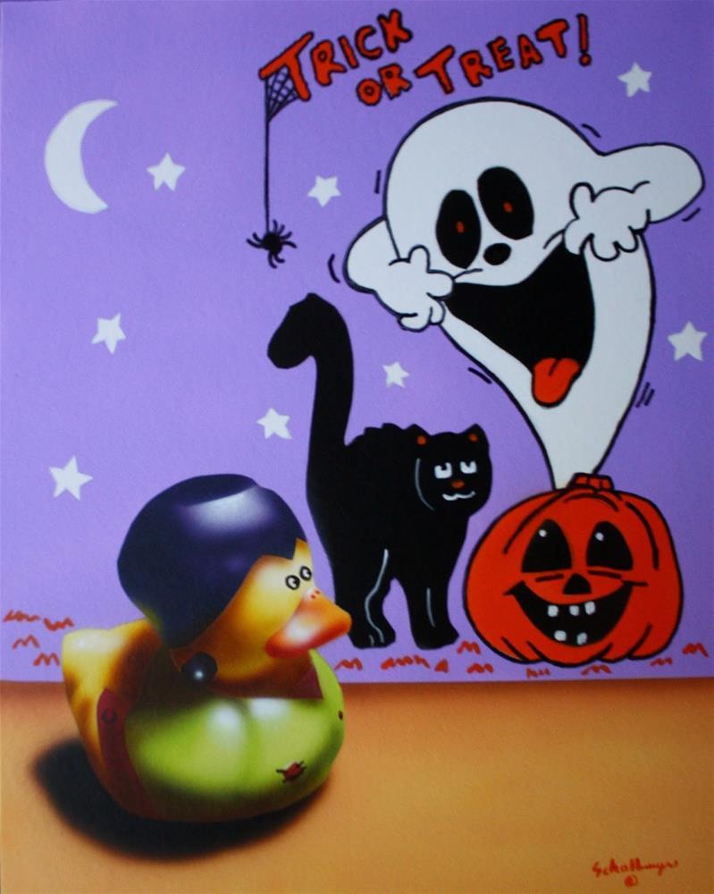 """Frankenduck Doesn't Scare So Easily"" original fine art by Fred Schollmeyer"
