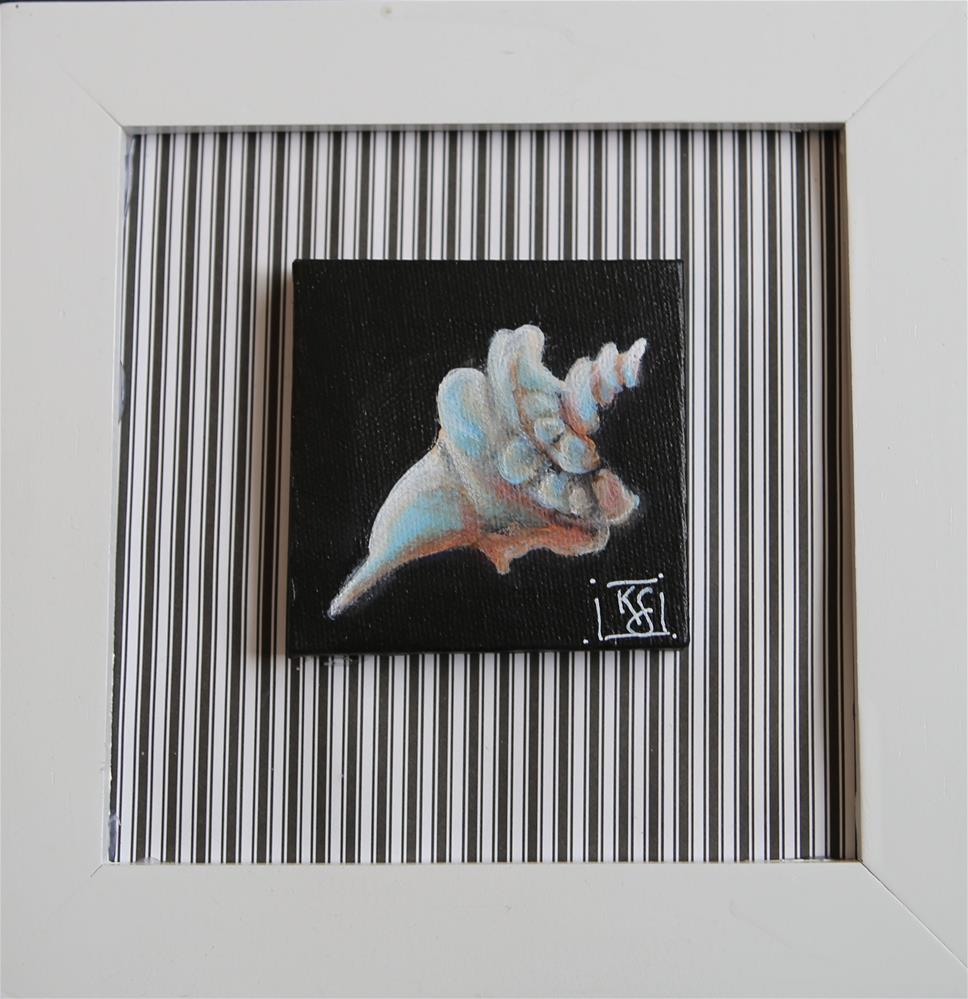 """Conch Shell"" original fine art by Kathleen Straube"