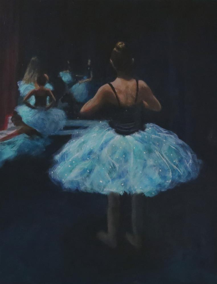 """""""Backstage Ballet"""" original fine art by Elizabeth Elgin"""