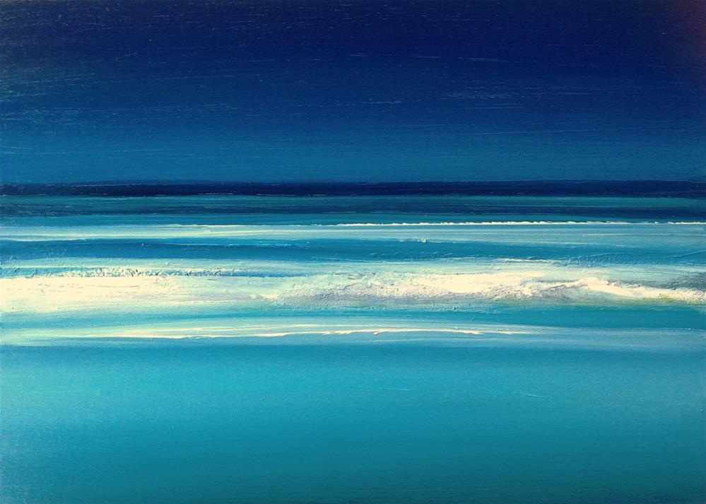 """A Glorious July - Ocean Meditation"" original fine art by Anne Ducrot"