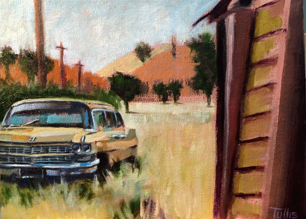 """John Marsh's Cadillac"" original fine art by John Tullis"