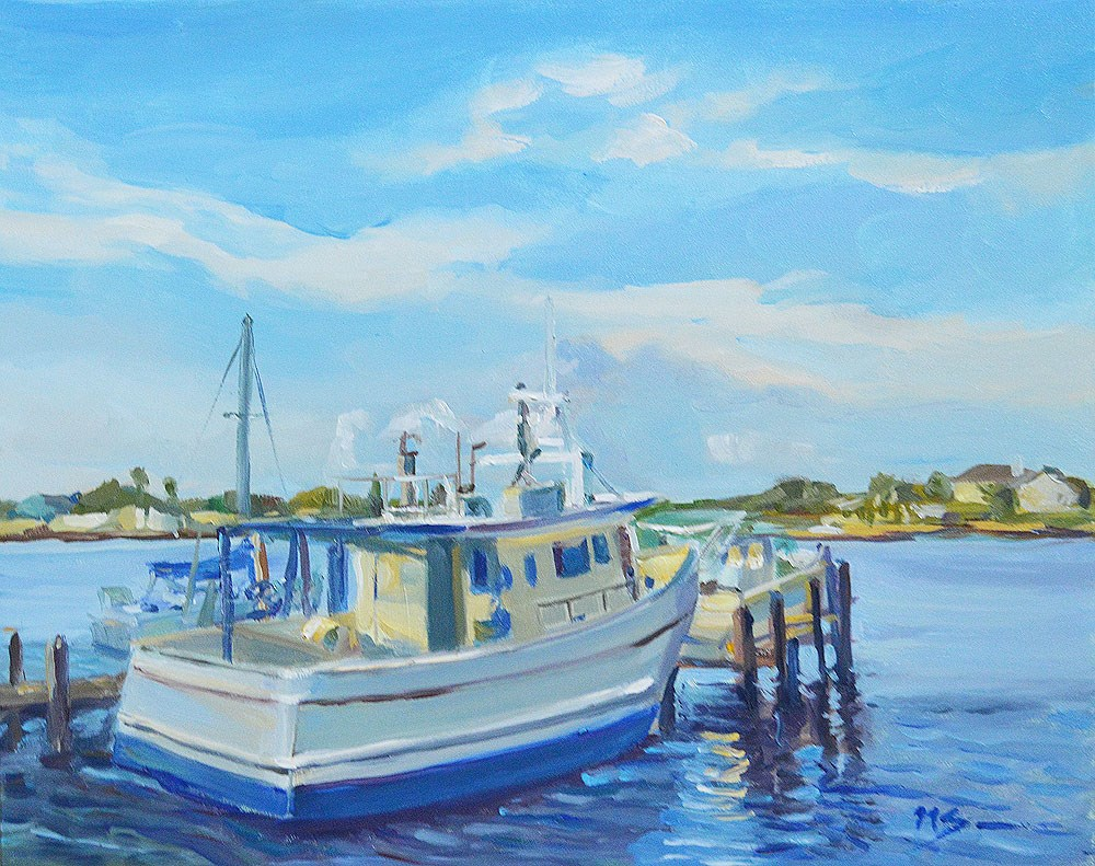 """Marina in Reddington Shores"" original fine art by Nikita Sonavadekar"
