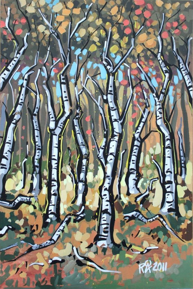 """Birch-trees 5"" original fine art by Roger Akesson"