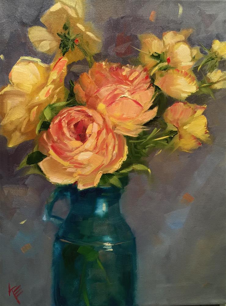 """Winter Rose"" original fine art by Krista Eaton"