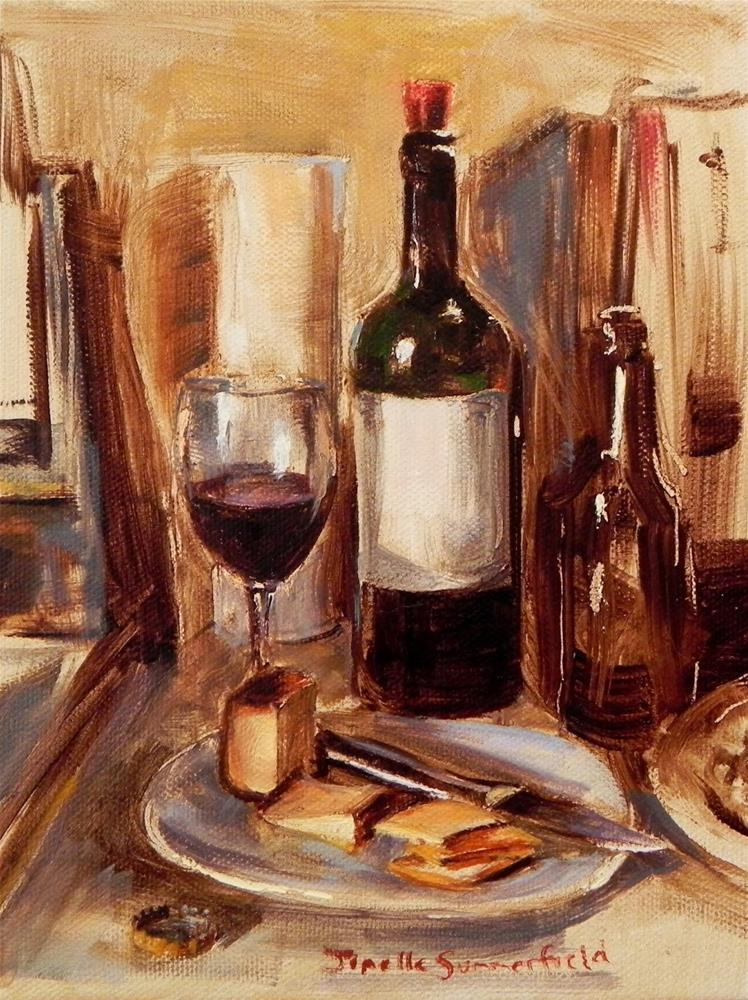 """Wine and Cheese"" original fine art by Jonelle Summerfield"