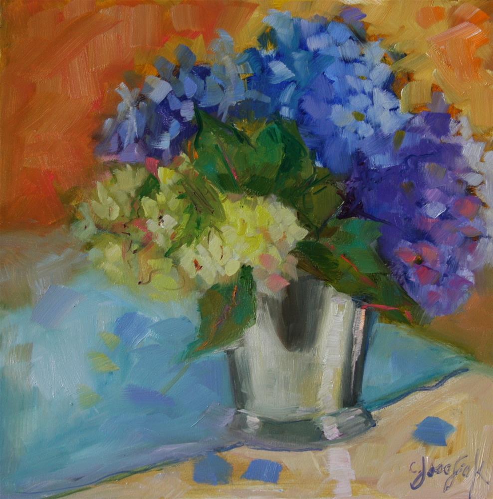 """Hydrangeas"" original fine art by Carol Josefiak"