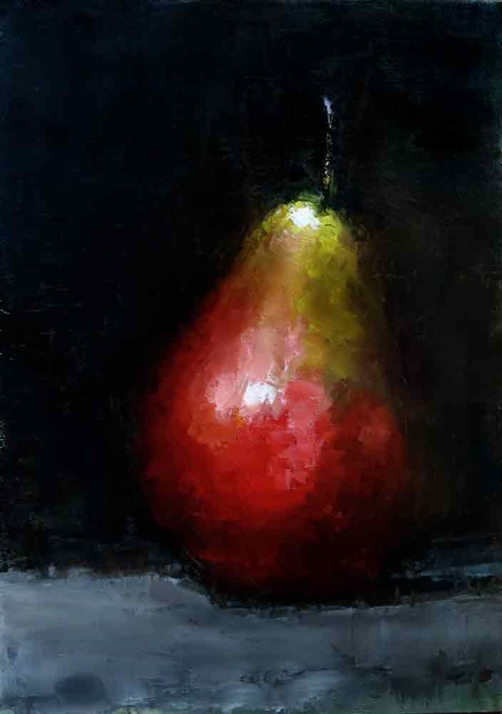"""A Juicy Pear"" original fine art by Bob Kimball"