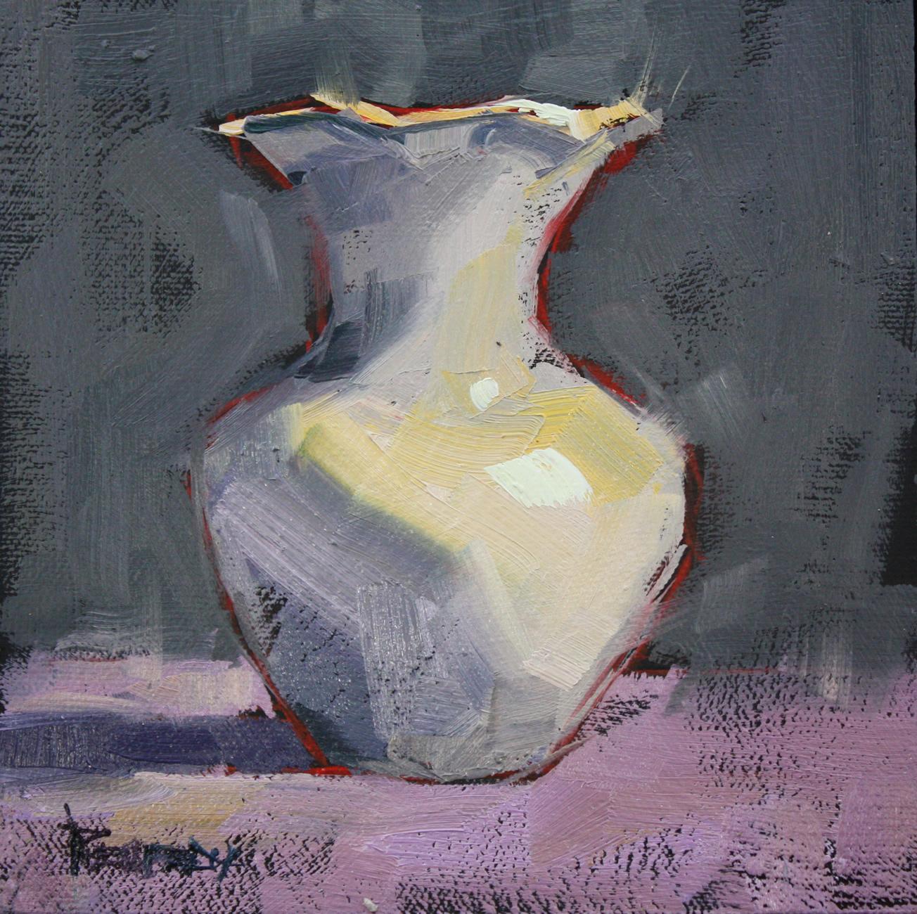 """Vintage Ironstone Vase"" original fine art by Cathleen Rehfeld"