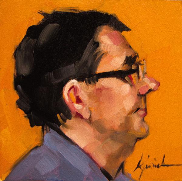 """100 Faces, No. 99"" original fine art by Karin Jurick"