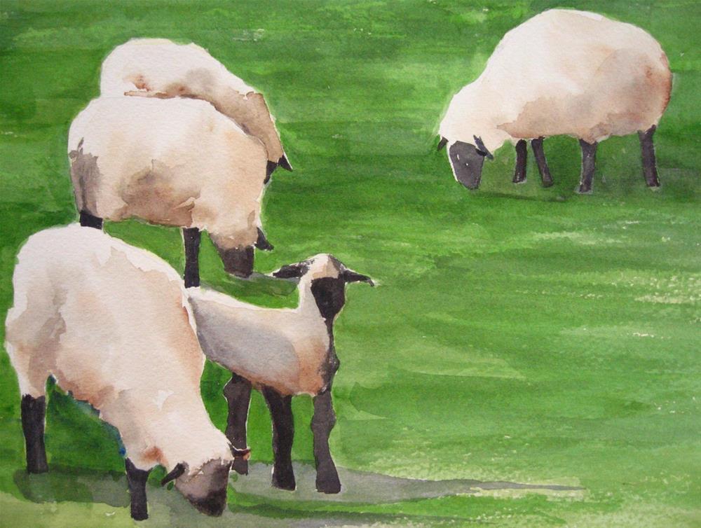 """We Safely Graze"" original fine art by Judith Freeman Clark"