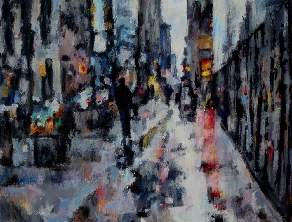 """A Rain's Reflection"" original fine art by Nava Judith"