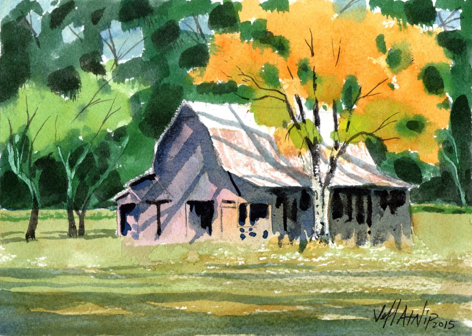 """Barn Study"" original fine art by Jeff Atnip"