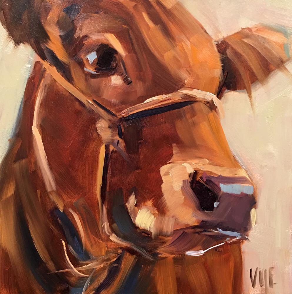 """#409 Unsure"" original fine art by Patty Voje"